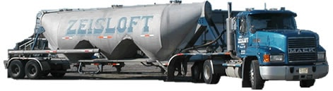 Dry-bulk aggregates such as sand, cement, fly-ash and stone dust